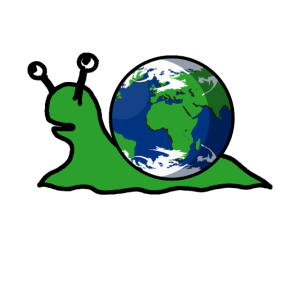 Fantasy Schnecke mit Erde als Schneckenhaus