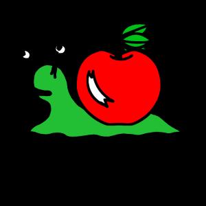 Schnecke mit Apfel Schneckenhaus Geschenk