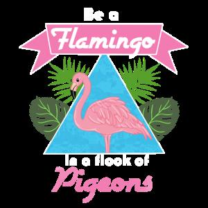 Seien Sie ein rosa Flamingo Geschenk drucken Retro Flamingos sein