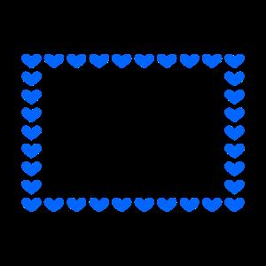 Rechteck Herz Anpassbar Blau Rahmen