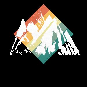 Berge Wandern Retro Vintage Style