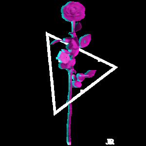 Vaporwave Aesthetic Rose für Damen und Herren