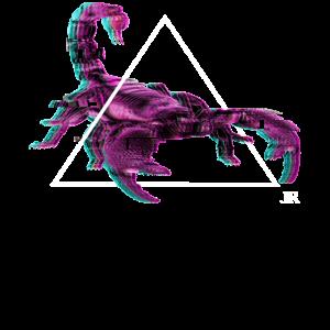 Vaporwave Aesthetic Skorpion Damen und Herren