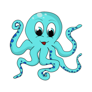 Oktopus Kind Geschenkidee Meerestier