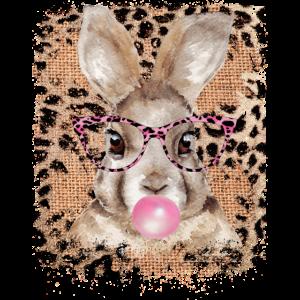 Hase mit Brille Leopard
