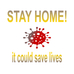 Stay Home Bleib Zuhause Unterstützung Anti Corona