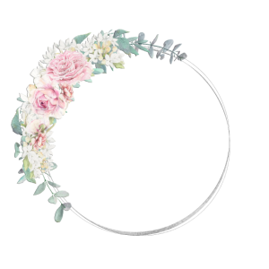 Blumenkranz Silber Rosa personalisierbar