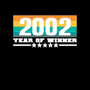 18 18. Geburtstag Volljährig 2002 Year of Winner