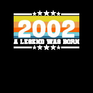 18 18. Geburtstag Volljährig 2002 Legend was born