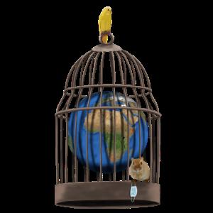 Welt gefangen