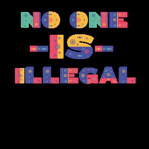 Kein Mensch ist illegal, Flüchtlinge, Slogan