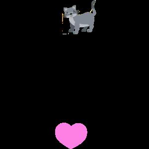 nettes Hemd der besten Freundin der Katzenfrau für Katzenfrau