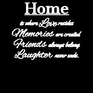 Zuhause ist, wo Liebe wohnt