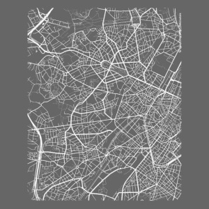 Minimal Molenbeek city map and streets