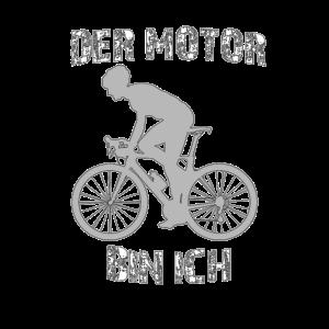 Der Motor bin ich Fahrrad fahren