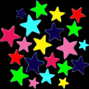 Sterne in vielen Farben