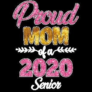 Stolze Mutter eines 2020 Senioren