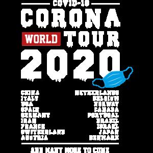 Corona World Tour 2020 Wuhan Covid 19 maske Virus