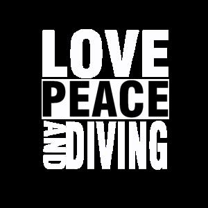 Tauchen Love Peace Tauchschein Taucher Geschenk