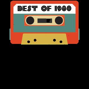 Das Beste von 1980 Retro Geburtstagskassette