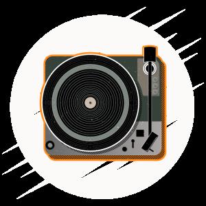 Schallplattenspieler | Schallplatte | Geschenkidee