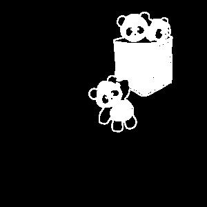 Niedliche kleine Bären Panda Design, Baby Panda