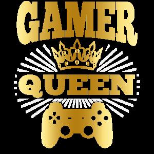 Gamer Queen Damen Lustiger Spruch Geschenk Mädchen