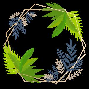 Pflanzen Rahmen Deko Geschenk