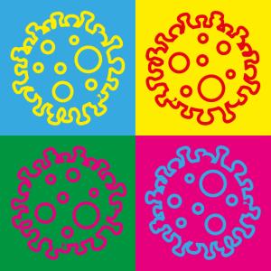 pop-art coronavirus