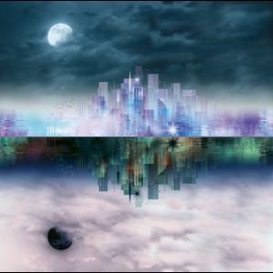 Spiegelbild Stadtlandschaft
