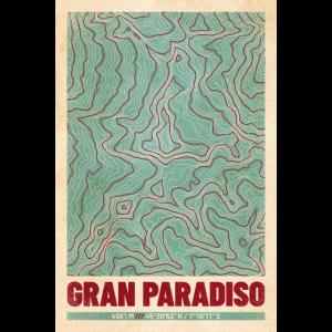 Gran Paradiso | Landkarte Topografie (Retro)