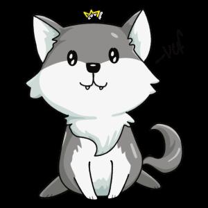 Kawaii Wolf König