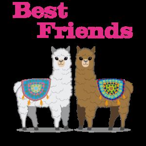 Lama Alpaka Beste Freunde Damen Herren Kinder
