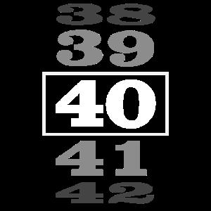 40 Geburtstag Zähler Geschenk Damen Herren