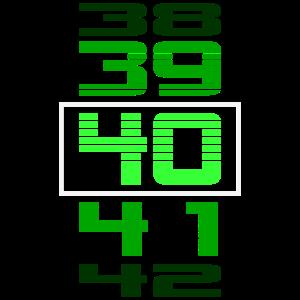 40 Geburtstag LCD Zähler Geschenk Damen Herren