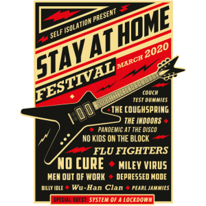 Quarantäne Social Distancing Stay Home Bands 2020