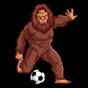 Bigfoot Sasquatch Fussball Spieler Geschenk