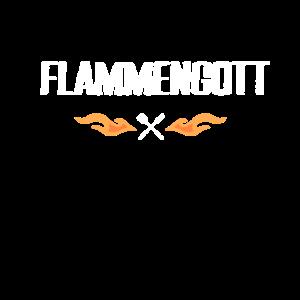 Flammengott Grillen Herr der Flammen