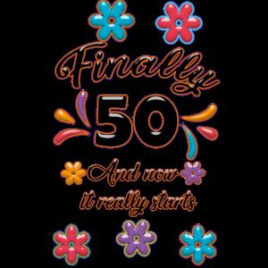 Frauen 50 Geburtstag Geschenk Vintage Design