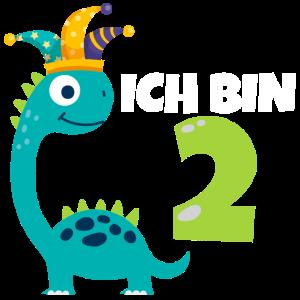 2. Geburtstag Dinosaurier 2 Jahre Jungen Geschenk