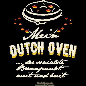Dutch Oven T-Shirt Design Sozialer Brennpunkt