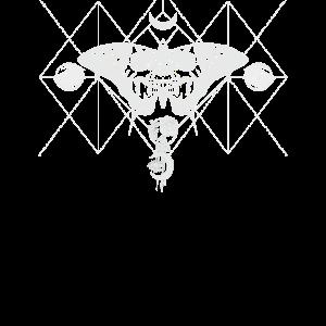 Okkult Heilige Geometrie Moon Rose Gothic Insekt