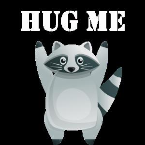 Hug me racoon