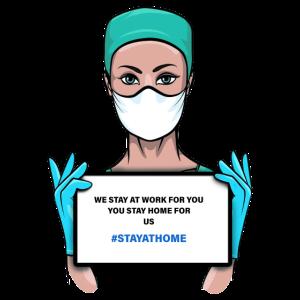 Corona Krankenschwester. Corona nurse. #stayathome