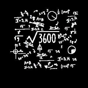 Wurzel 3600 60. Geburtstag 60 Jahre 1960 Geschenk