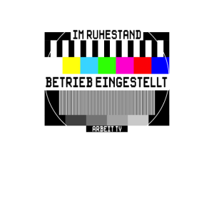 Ruhestand Sende Betrieb Eingestellt Vintage TV