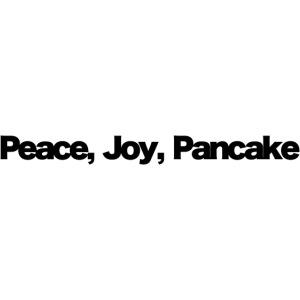peace joy pankake black 2020