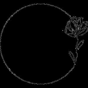 Line Art / Motiv: Rose im Kreis