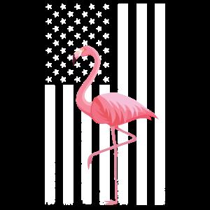 4. Juli Flamingo