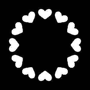 Herz Kreis Rund Anpassbar mit Text in die Mitte